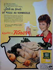 PUBLICITÉ QUALITÉ KNORR POTAGE DE POULE AU VERMICELLE - ADVERTISING