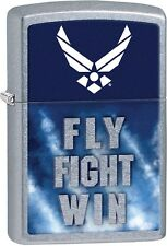 Zippo United States US Air Force, Fly Fight Win, Street Chrome Lighter NEW 29383