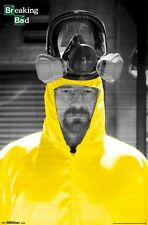 BREAKING BAD POSTER ~ WALTER CHEMICAL SUIT 22x34 TV Bryan Cranston Hazmat