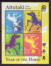 AITUTAKI 2014 YEAR OF THE HORSE UNMOUNTED MINT