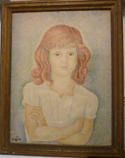 Pointillist Portrait of Marika by Marevna (1894-1984), Signed and dated 1941