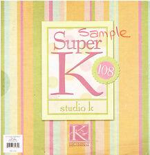 PAPER PAD - K & COMPANY STUDIO K 12 x 12 PAPER PAD - EX SHOP STOCK - 86 SHEETS
