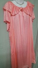 VENTURA SALMON PINK TRICOT CALF LENGTH  NIGHTGOWN WOMENS SIZE 3X