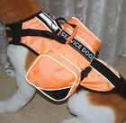 Service Dog Vest Harness Chest Plate Removable Velcro Patches & Saddle Bags