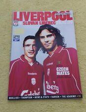 307) Liverpool v Slovan Liberec programme uefa cup 26-10-2000