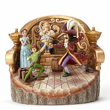 Jim Shore Disney Traditions Peter Pan Daring Duel Carved By Heart 4048653 NEW