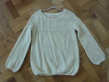 MARKS AND SPENCER INDIGO SIZE 10 ACRYLIC /MOHAIR BLEND JUMPER COLOUR CREAM