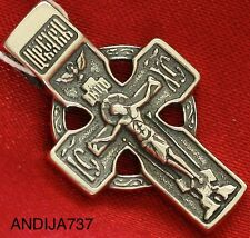 RUSSIAN ORTHODOX ICON CROSS, STERLING SILVER 925 NEW, RARE CELTIC CROSS. SALE !!