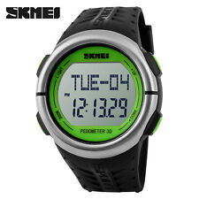 SKMEI Smart Wrist Watch Pulse monitor Stopwatch Heart Rate Pedometer Green ANX