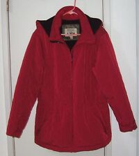 Pacific Trail Women's Quilted Hooded  Red Coat Jacket sz Large