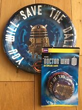 DOCTOR WHO DALEK TARDIS Party Pack / Kit -12 Plates & 50 Cupcake Cases - Dr Who