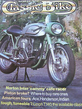 THE CLASSIC BIKE APR 1985 NORTON INTER CAFE RACER PISTON BROKE AMERICAN FOURS