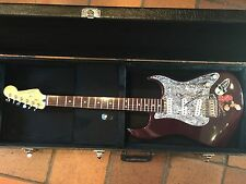 Fender stratocaster MIM Midnight wine 2003 upgraded near mint condition