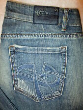 Chip & Pepper Laguna Beach Stretch Flare Womens Jeans Size 7 x 32.5 destroyed
