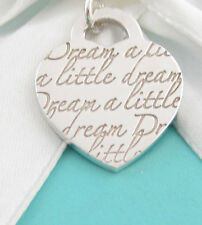 Tiffany & Co Silver Dream A Little Dream Pendant For Necklace Or Bracelet Box