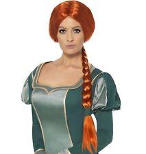 Smiffys Para Mujer Fiona de Shrek Peluca Disfraz en empaque venta al por menor