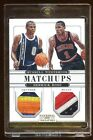 2012 NATIONAL TREASURES RUSSELL WESTBROOKS / DERRICK ROSE DUAL PATCHES LOGO /49