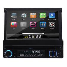"HOT 7"" Touch Screen Single Din Car Stereo Sat Nav DVD Player GPS Bluetooth ZH06"