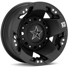"17"" XD Rockstar Dually Black Wheels W/ 35x12.50R17 Nitto Trail Grappler Tires"