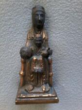 VINTAGE BLACK MADONNA OF MONTSERRAT PRIESTS FIGURINE STATUE II