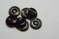 8pc 20mm Dark Green Mock Horn Bone Cardigan Trouser Shirt Kid Baby Button 0486