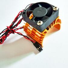 Golden Aluminum Heat sink & 5V Cooling Fan for RC 1/10 Car 540 550 Size Motor