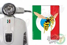 Front Badge Overlay Italian Flag/Mio Vespa Wasp 3D Decals sticker Gts Gt ET PX S