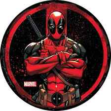 "DEADPOOL circle arms crossed STICKER Licensed Decal 3.5"" New Marvel S-MVL-61"