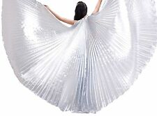 Worship Praise Dance Solid White Costume Isis Wings Angle Wing With Sticks & Bag