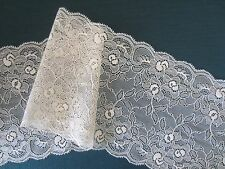 2M CREAM LACE TRIM 165mm WIDE
