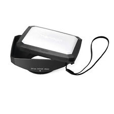 46mm 16:9 Rectangular Lens Hood for Olympus OM-D E-M5,PEN E-P3,PEN E-PL3,NEW,US