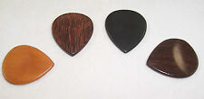 4 X BEAUTIFUL HANDMADE MIXED TONEWOOD TIMBER GUITAR PICKS/WOODEN GUITAR PLECTRUM