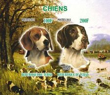** Dogs  Beagle Pointer  s/s  Tchad 2010 MNH IMPERF    #B089
