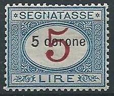 1922 DALMAZIA SEGNATASSE 5 CORONE LUSSO MNH ** - ED686