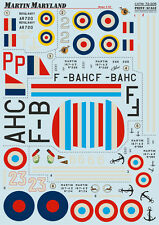 Martin Maryland, Print Scale 72-205, Decals 1/72