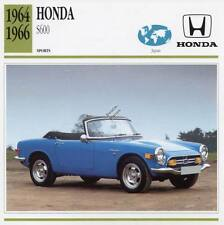 1964-1966 HONDA S600 Sports Classic Car Photo/Info Maxi Card