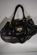 Leather Juicy Couture Big Black Hobo Handbag Purse