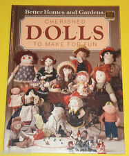 Cherished Dolls To Make For Fun 1985 How To Book Great Illustrations! Nice See!