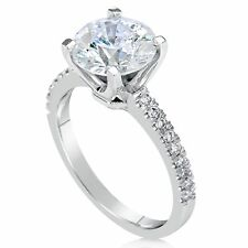 1.74 CT ROUND CUT D/VS2 DIAMOND SOLITAIRE ENGAGEMENT RING 14K WHITE GOLD