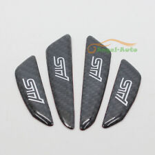 For Subaru STI Real Carbon Fiber Side Door Edge Protection Guards Trims Stickers