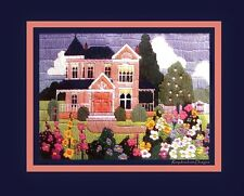*VINTAGE LONGSTITCH* 1987 CREATIVE CIRCLE * Spring Victorian House * LG WOOL KIT