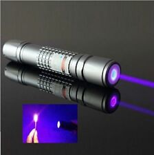 High Power Blue Purple Laser Pointer Burning Light Beam Pen Battery Charger 5mW