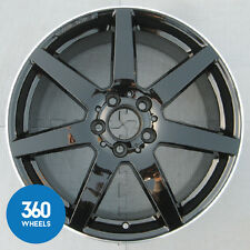 "GENUINE MERCEDES C CLASS 18"" 7 SPOKE AMG ALLOY WHEEL BLACK POLISHED A2044019802"