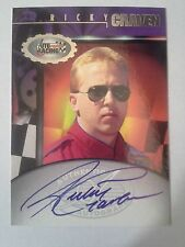 1997 Autographed Racing RICKY CRAVEN #25 Budwieser On card Autograph