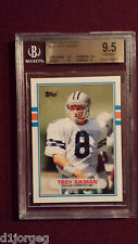 Troy Aikman 1989 Topps Traded Rookie Card  BGS Gem Mt 9.5