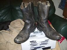 "Vintage Men's Black "" Red Wing "" Work, Motorcycle Boots Size 10-D"