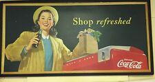 Vintage 1948 Shop Refreshed Coke Coca Cola Cardboard Sign