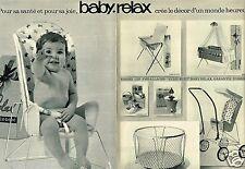 Publicité advertising 1965 (2 pages) Puériculture baby Relax parc Poussettes