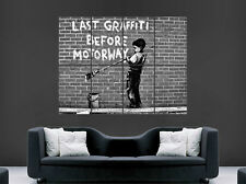 BANKSY GRAFFITI POSTER MOTORWAY  PRINT ART WALL PICTURE  GIANT HUGE