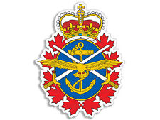 3x4 inch Canadian FORCES Crest Shaped Sticker  - decal Canada military army logo